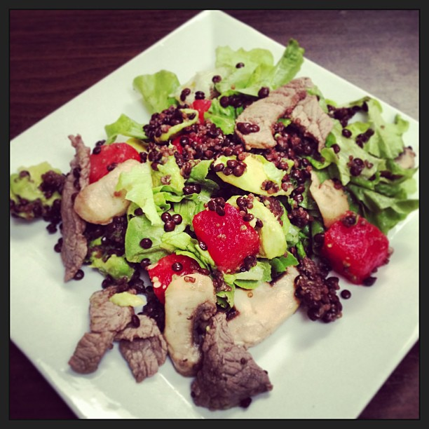 Recipe: Steak, Watermelon & Lentil Salad